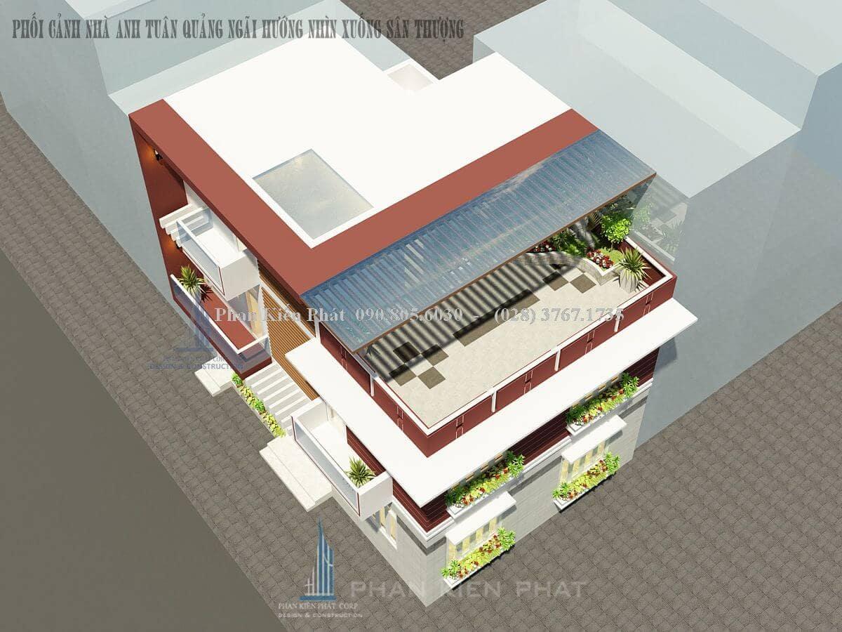 Biệt thự với kiến trúc hiện đại thiết kế với không gian mở