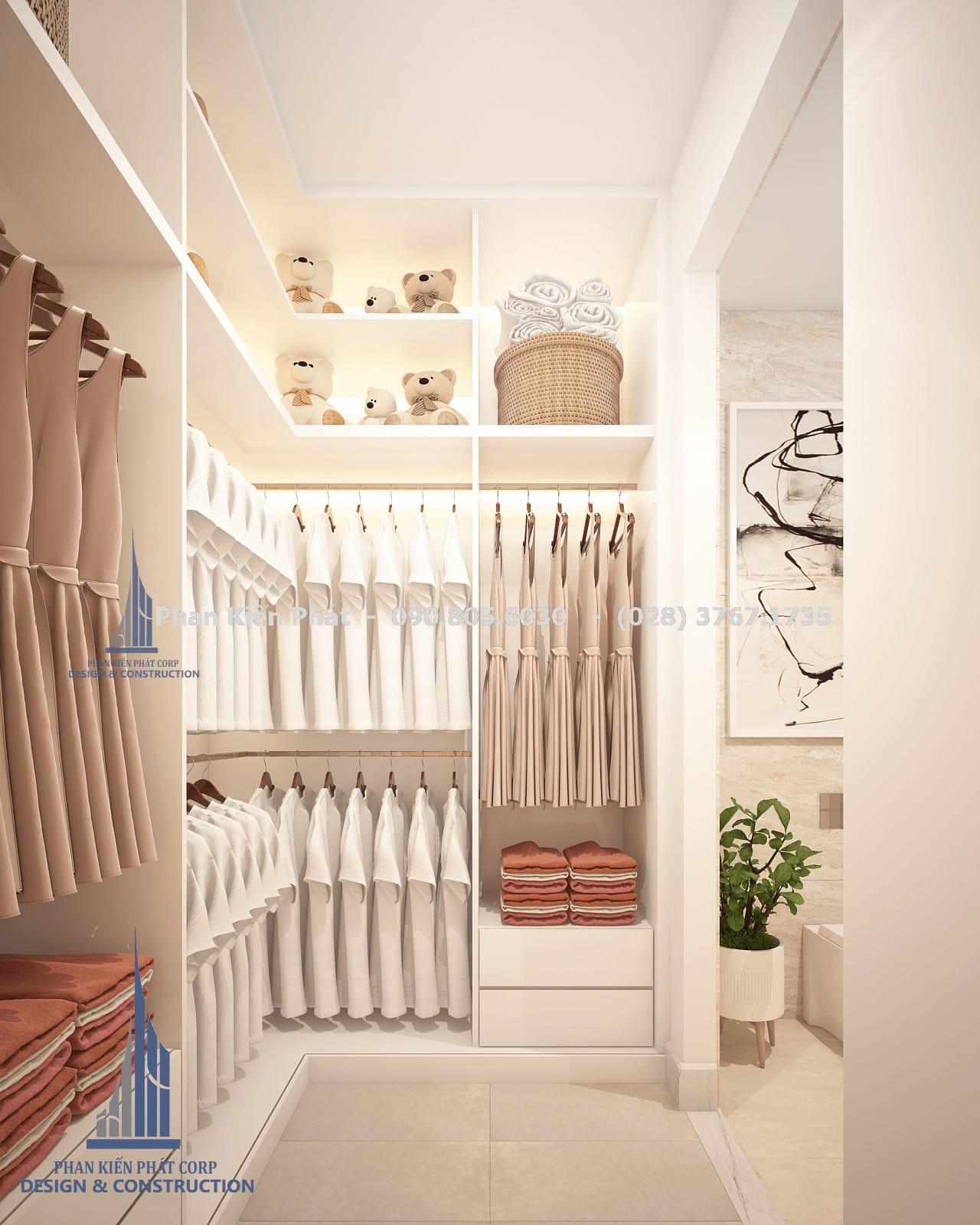Phòng thay đồ dành cho con gái 1 biệt thự phố