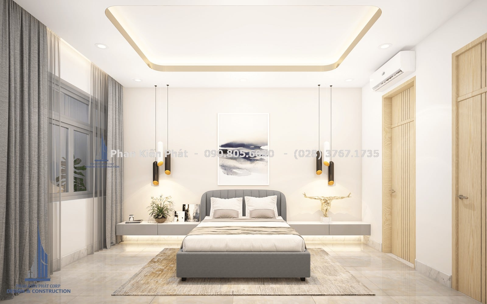 Nội thất phòng ngủ dành cho khách đẹp góc 1