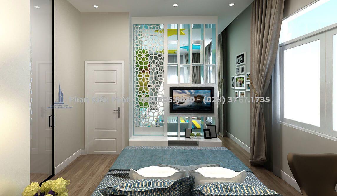 Thiết kế nội thất phòng ngủ ba mẹ hiện đại