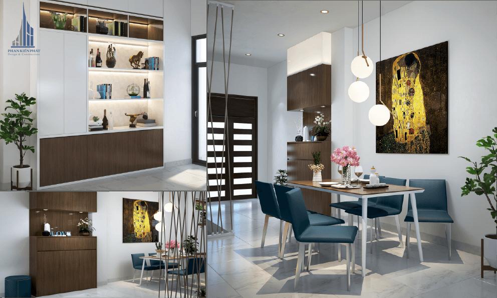 Thiết kế nội thất phòng khách với không gian mở