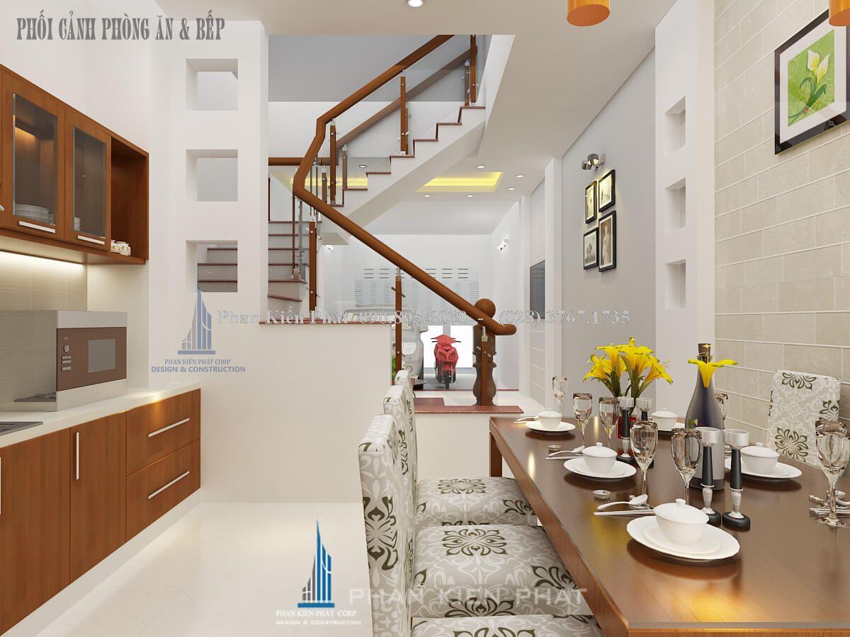 Phòng ăn kết hợp phòng bếp góc 1
