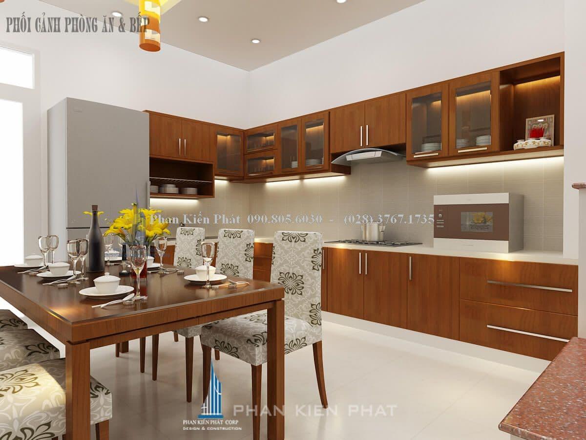 nội thất phòng ăn kết hợp phòng bếp góc 2