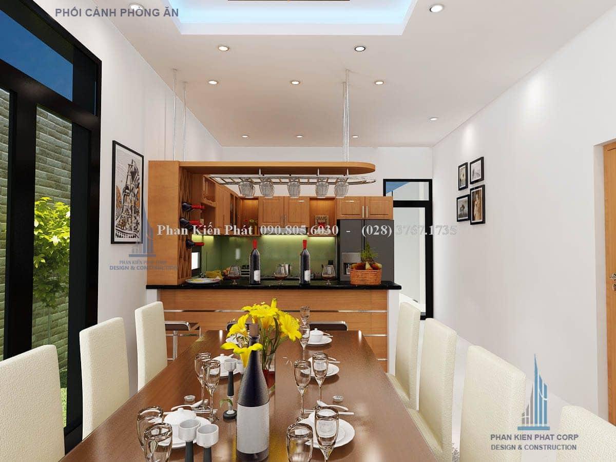 Nội thất phòng ăn biệt thự mini hiện đại