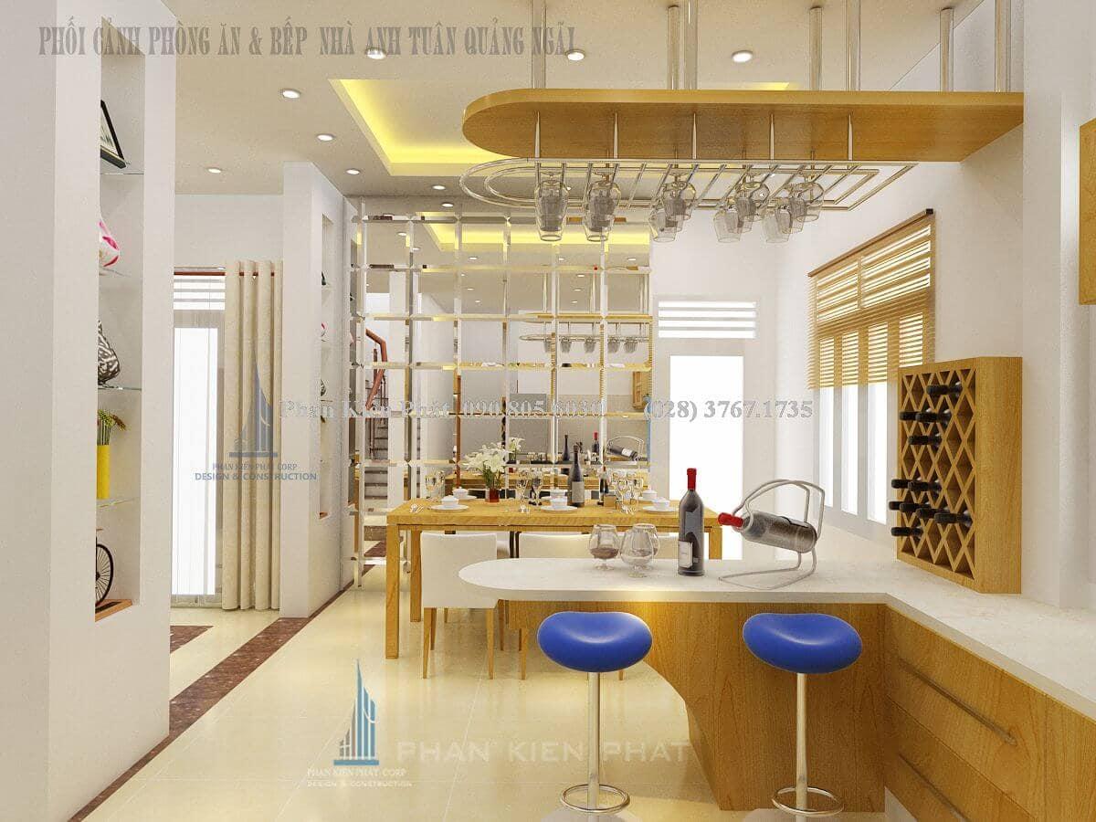 Thiết kế nội thất phòng bếp bằng gỗ cao cấp đầy tiện nghi view 1