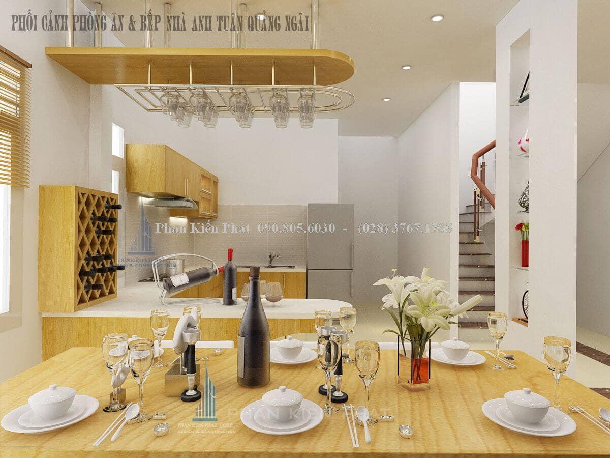 Thiết kế nội thất phòng bếp bằng gỗ cao cấp đầy tiện nghi view 2