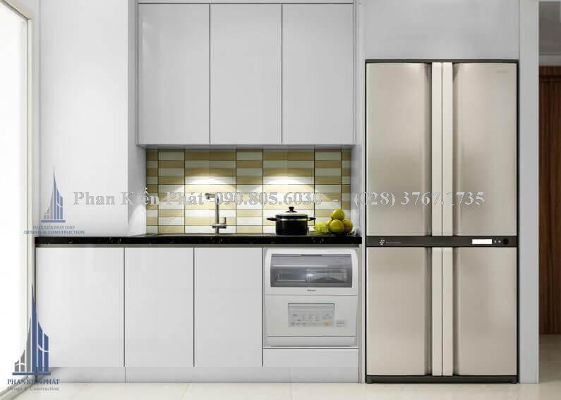 Nội thất phòng ăn kết hợp với phòng bếp hiện đại view 2