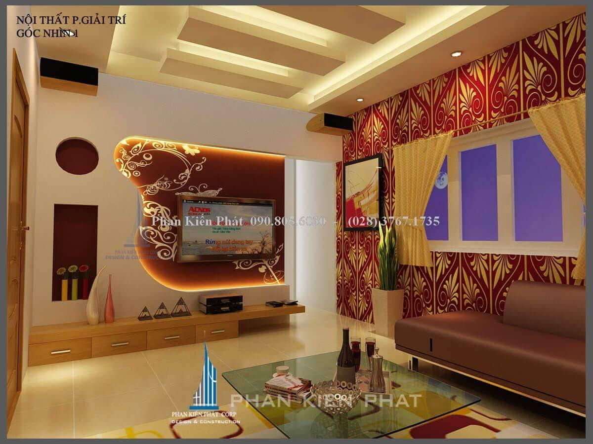thiết kế phòng giải trí view 1