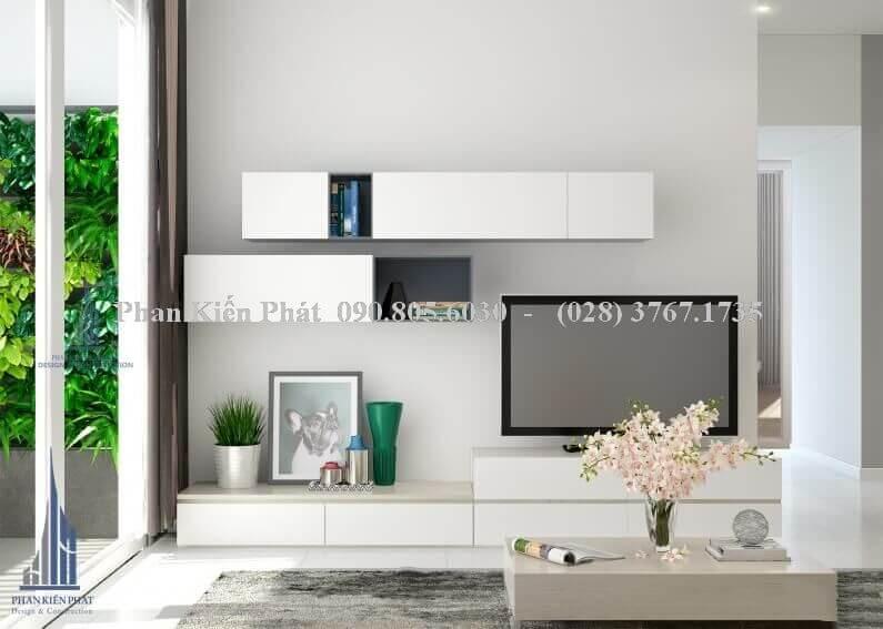 Thiết kế nội thất phòng khách đẹp nhà phố view 1