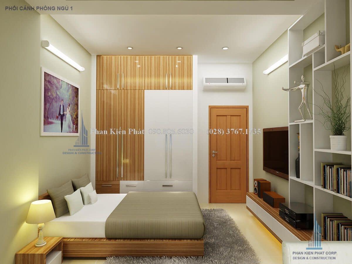 Mẫu phòng ngủ bố mẹ nhà mặt phố tiền 4m