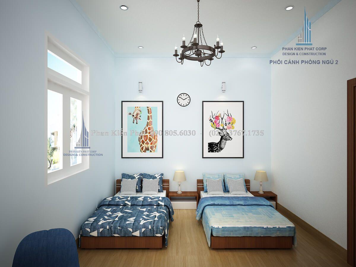 Nội thất phòng ngủ 2 giường dành cho bé trai năng động view 2
