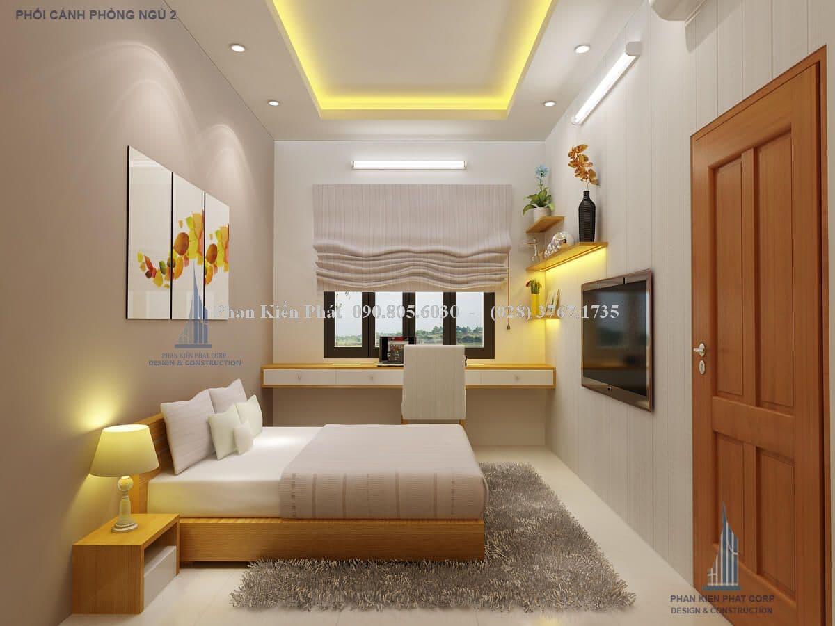 Thiết kế phòng ngủ số 2 - nhà phố mặt tiền 4m
