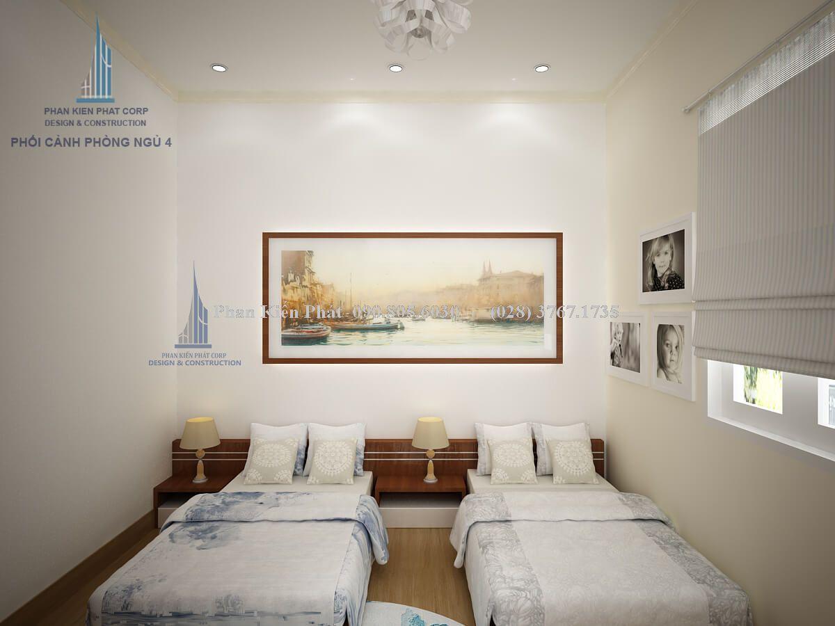 Thiết kế nội thất phòng ngủ 2 giường view 2