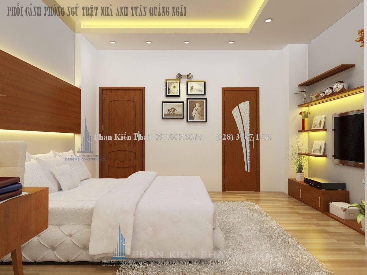 Thiết kế phòng khách sang trọng ở biệt thự Quảng Ngãi