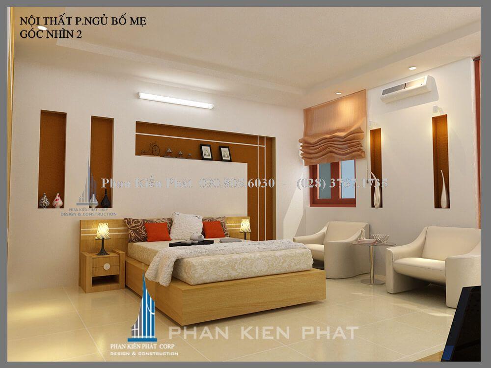 thiết kế phòng ngủ bố mẹ view 2