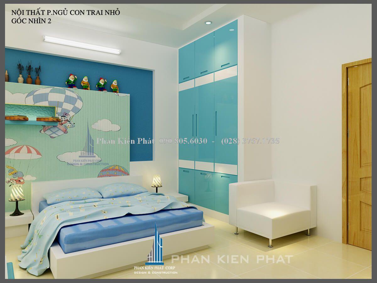 thiết kế nội thất phòng ngủ con trai nhỏ view 1