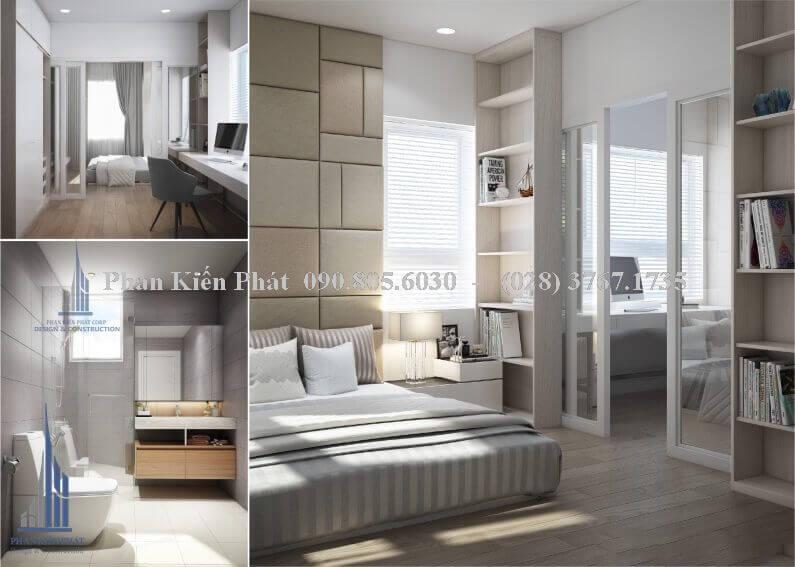 Thiết kế nội thất phòng ngủ kết hợp với phòng làm việc nhỏ