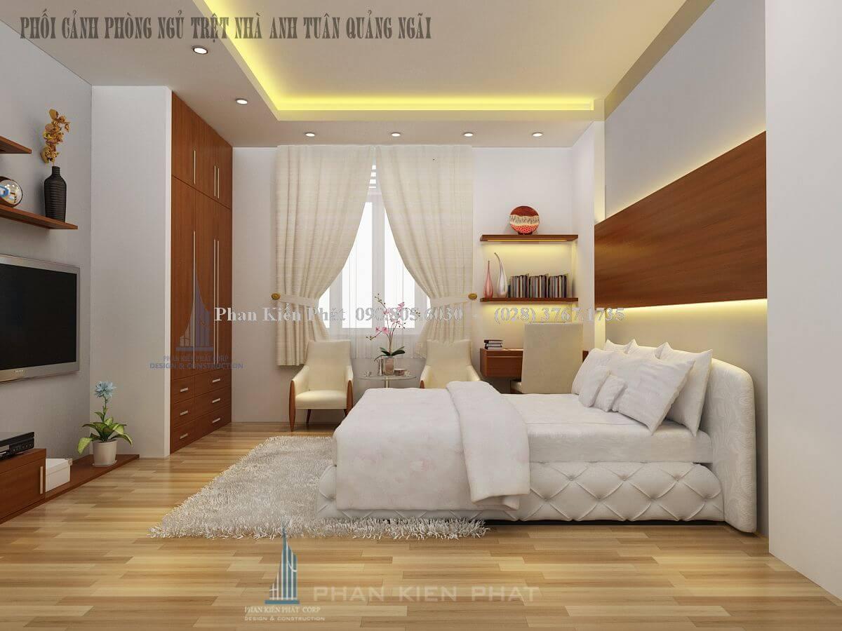 Thiết kế phòng khách sang trọng ở biệt thự Quảng Ngãi view 2