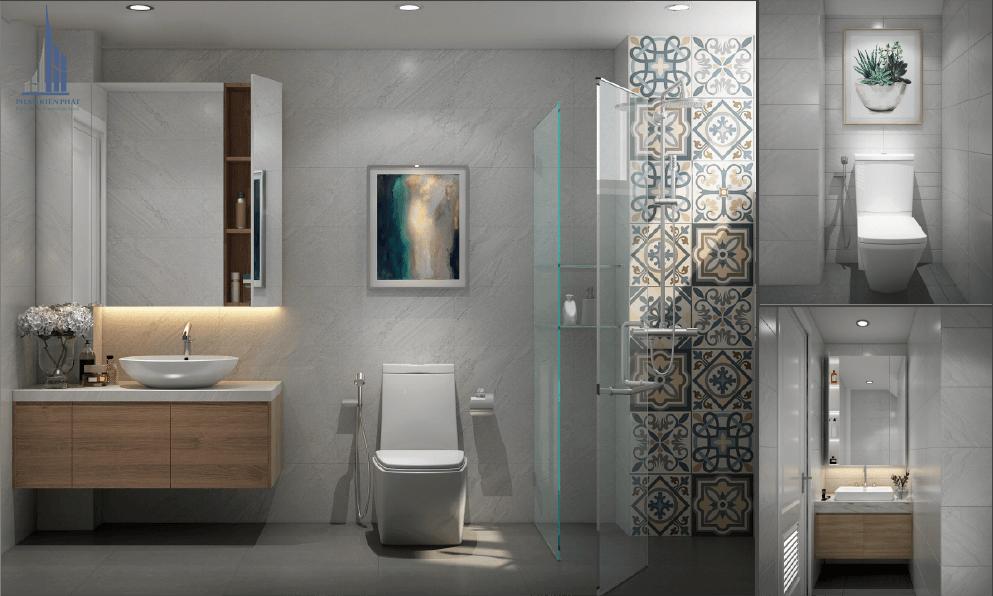 Thiết kế nhà tắm nhỏ đẹp với nhà vệ sinh