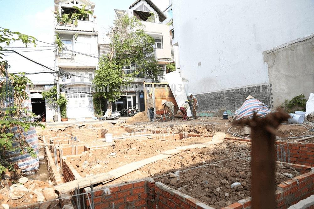 Thi công xây dựng nhà phố, nhà ống hiện đại view 1