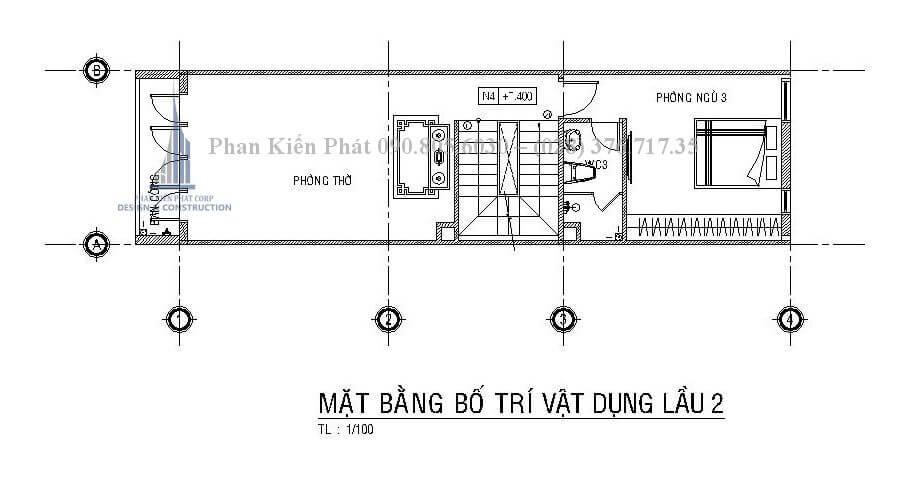thiết nhà phố 1 trệt 3 lầu