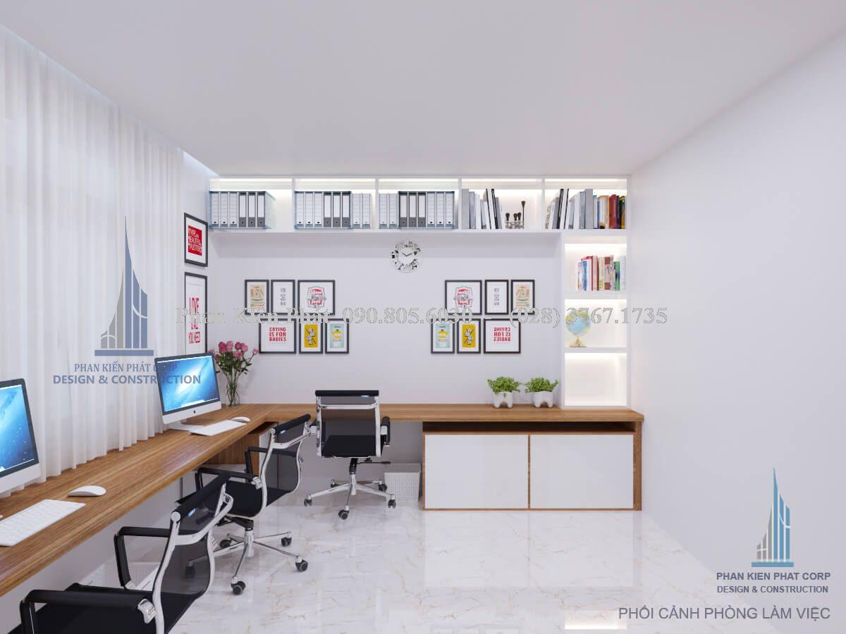 Thiết kế phòng làm việc sáng tạo, trẻ trung