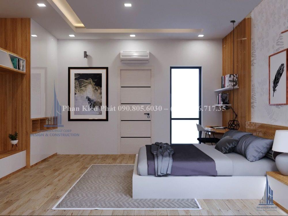 Phòng ngủ master mẫu thiết kế nhà phố 1 trệt 3 lầu