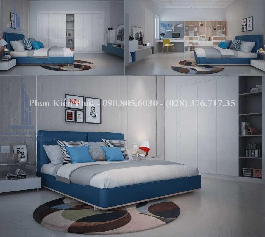 Thiết kế nội thất phòng ngủ cho thành viên nam