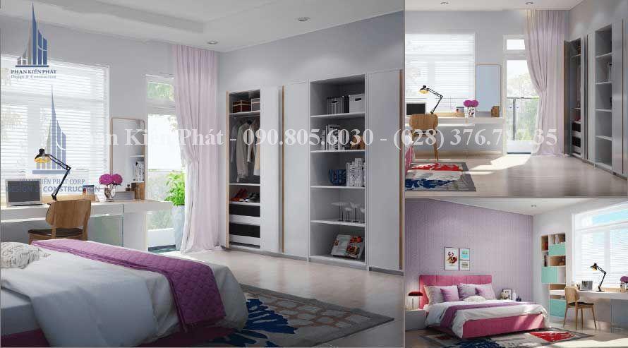 Thiết kế nội thất phòng ngủ cho thành viên nữ