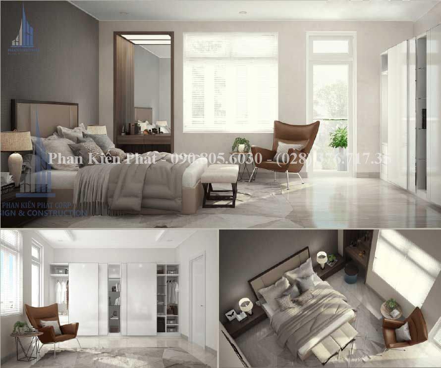 Thiết kế nội thất phòng vợ chồng gia chủ