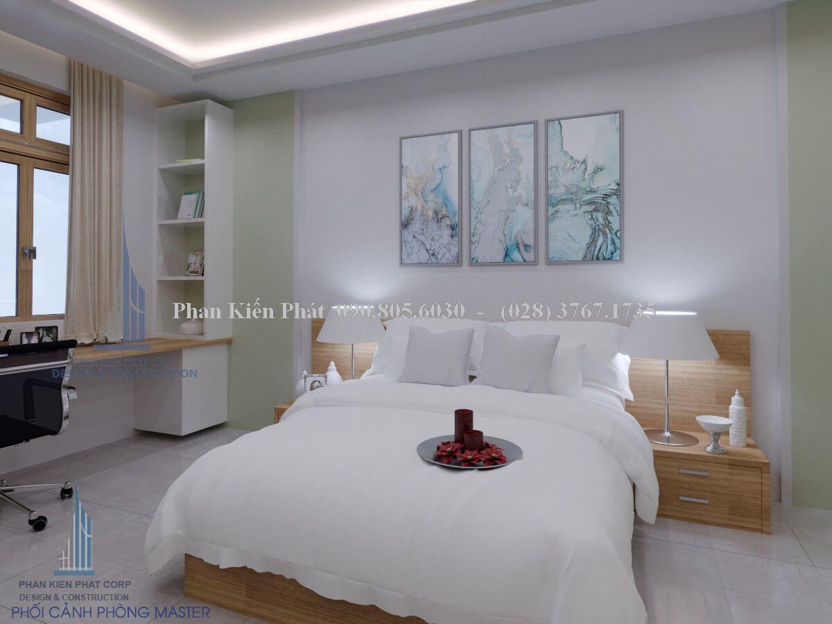 Nội thất phòng ngủ master trang trọng, hiện đại