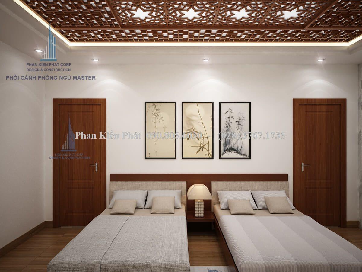 Nội thất phòng ngủ master biệt thự 2 tầng view 1