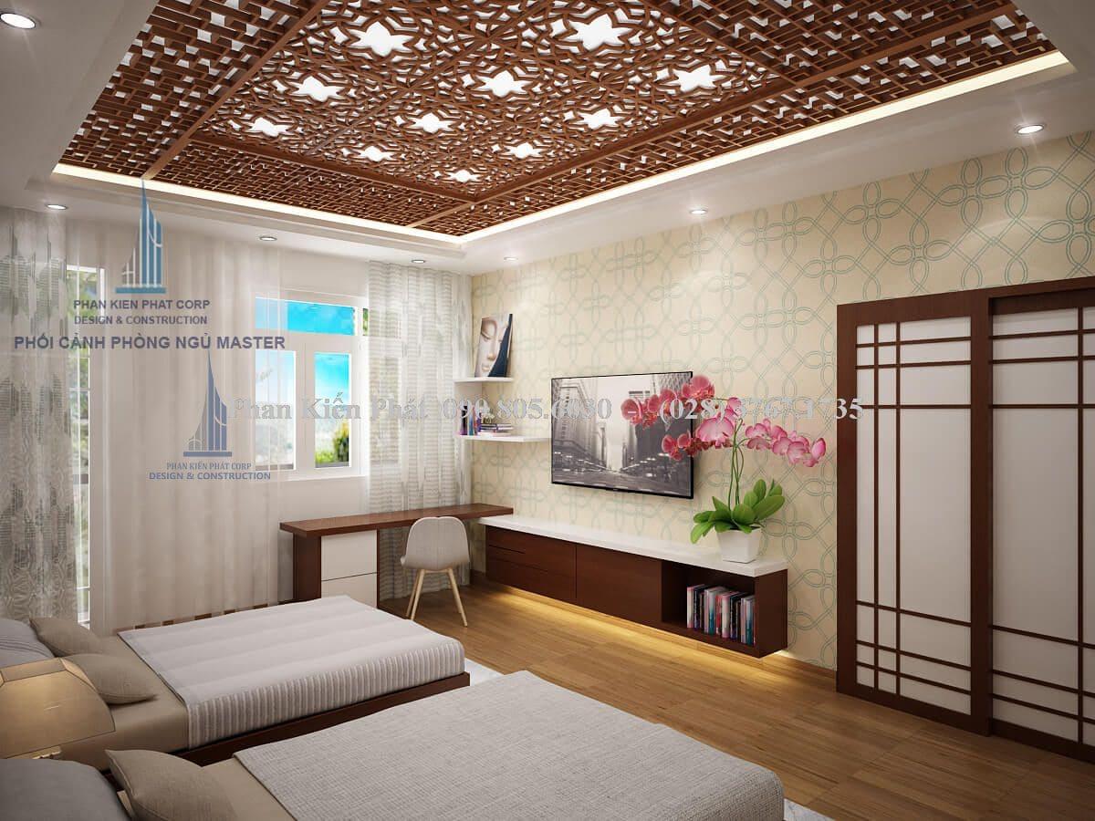 Nội thất phòng ngủ master biệt thự 2 tầng view 2