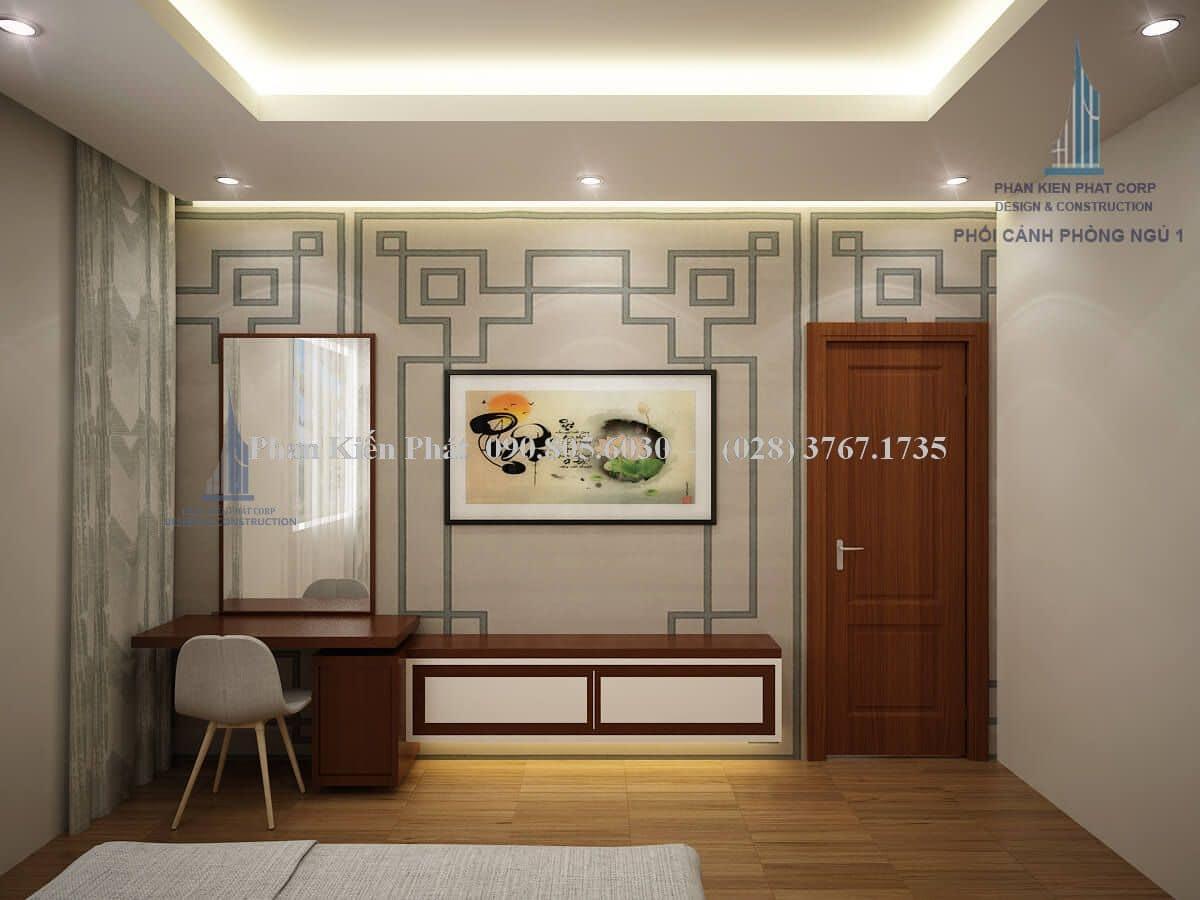 Nội thất phòng ngủ 1 biệt thự 2 tầng view 1