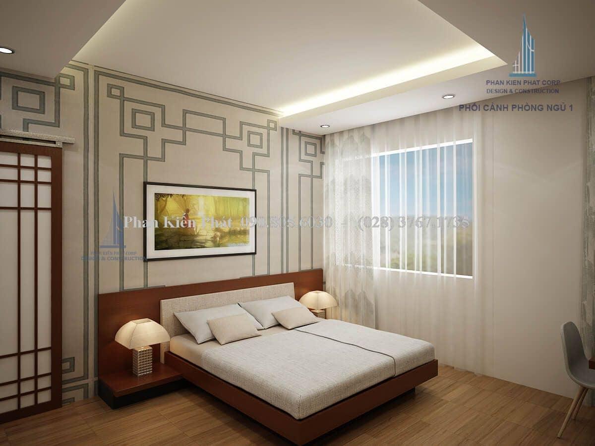 Nội thất phòng ngủ 1 biệt thự 2 tầng view 2