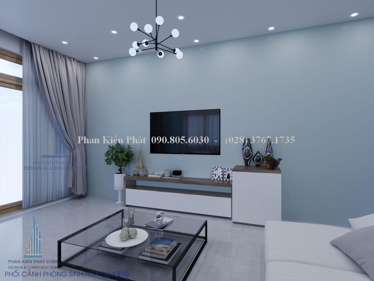 Phòng sinh hoạt chung nhà villa hiện đại