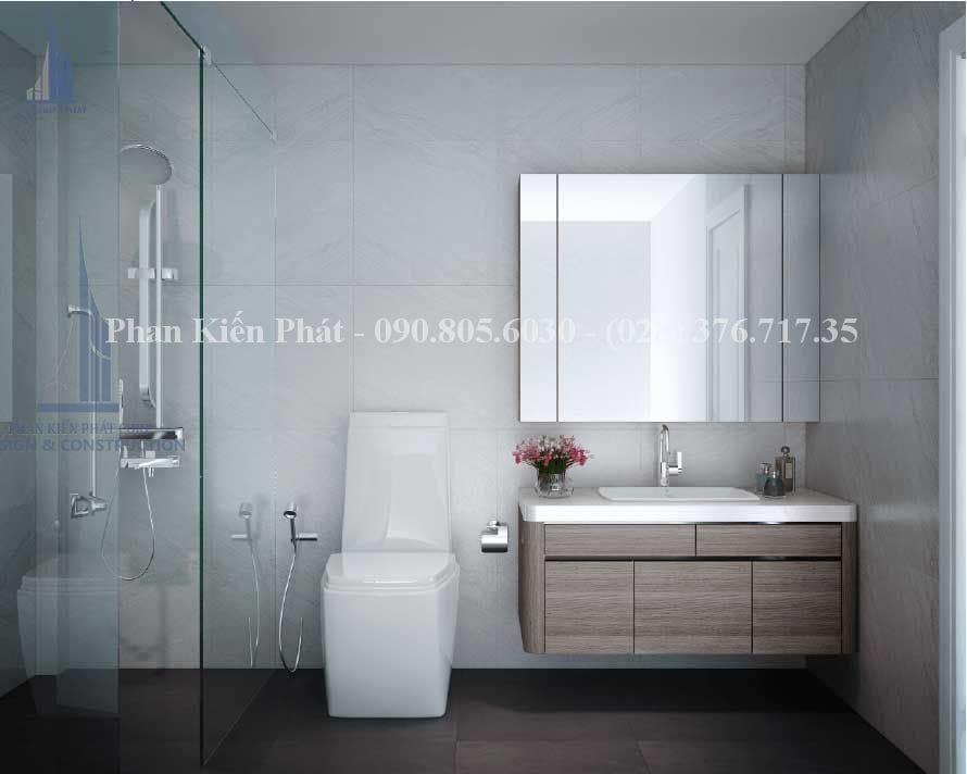 Nhà tắm trong thiết kế biệt thự 4 tầng