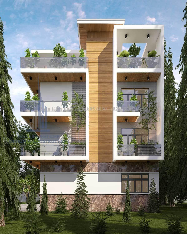 Thiết kế biệt thự 4 tầng hiện đại