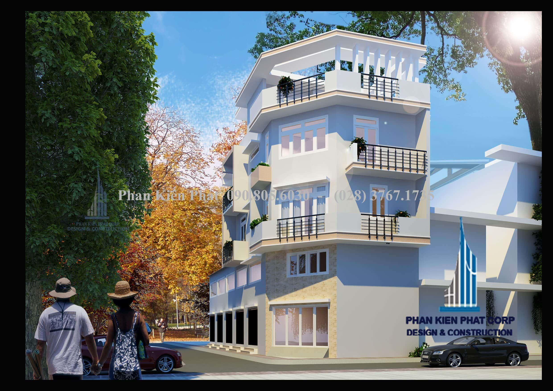 Nhà phố kết hợp phòng cho cho thuê cao 5 tầng với diện tích 7x19.7m