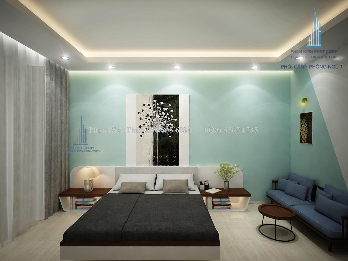 Mẫu thiết kế nội thất phòng ngủ hiện đại cao cấp sử dụng gỗ cao cấp