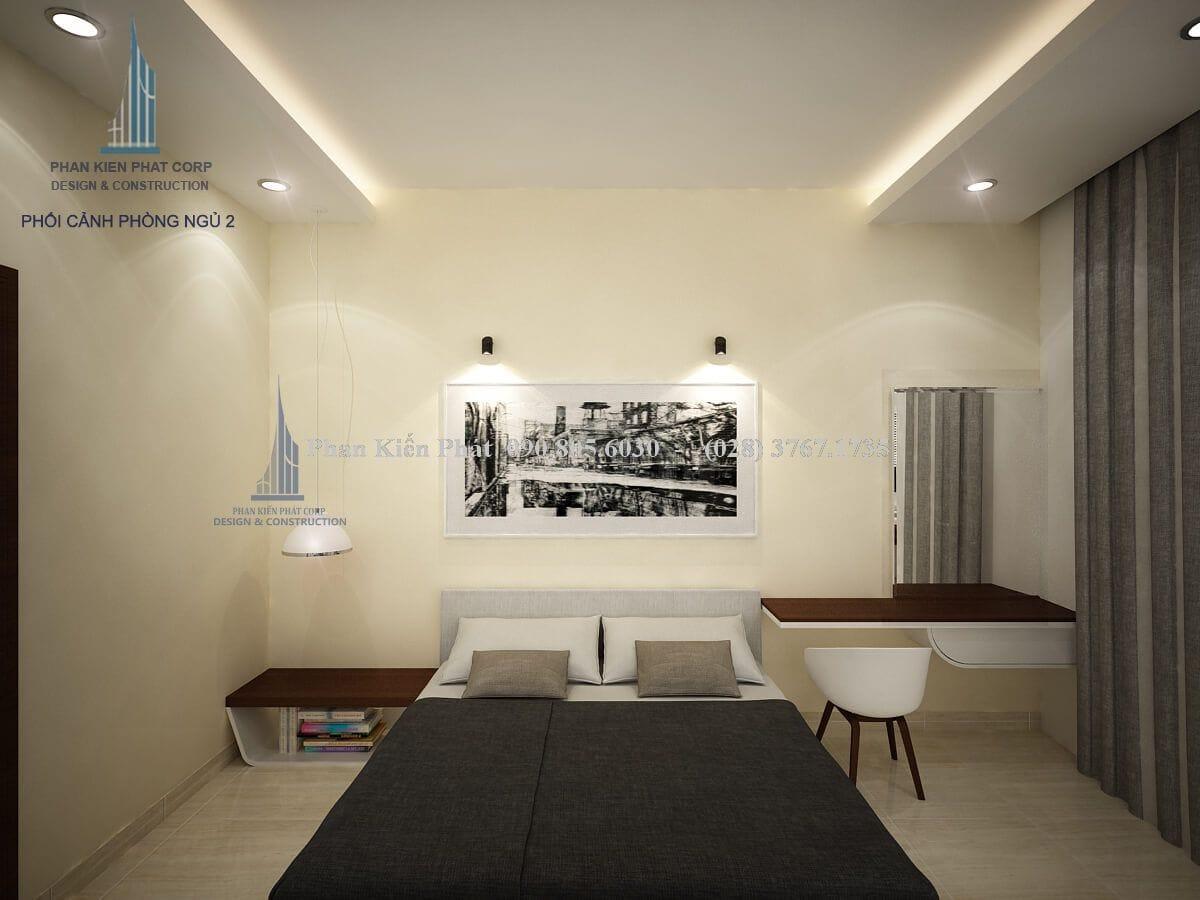 Giường ngủ được thiết kế hiện đại đơn giản