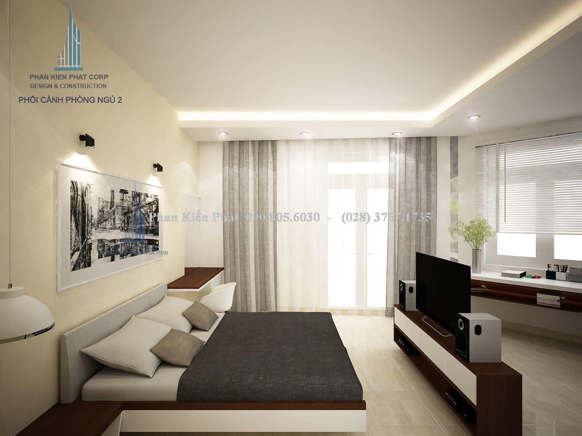 Thiết kế nội thất phòng ngủ hợp lý sẽ giúp căn phòng gọn gàng và khoa học