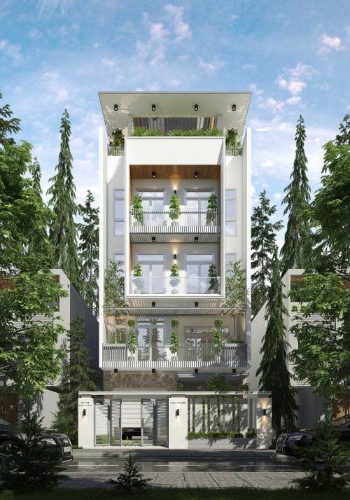 cải tạo biệt thự 5 tầng hiện đại