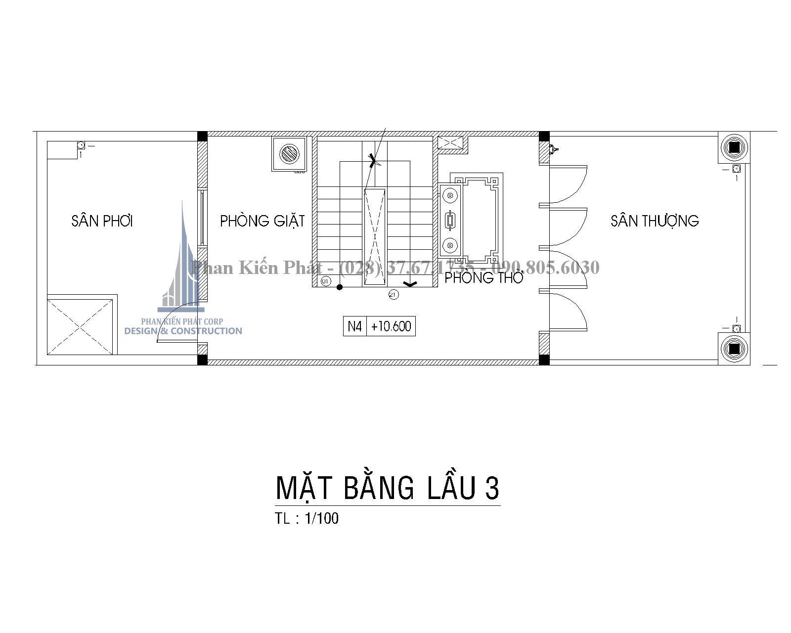 Mat Bang Lau 3 Nha Pho