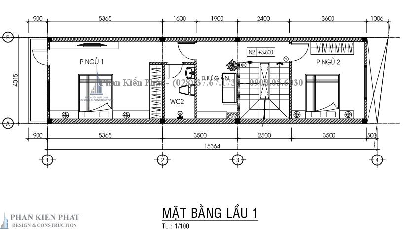 Ban Ve Chi Tiet Mat Bang Lau 1 Nha Pho 3 Tang