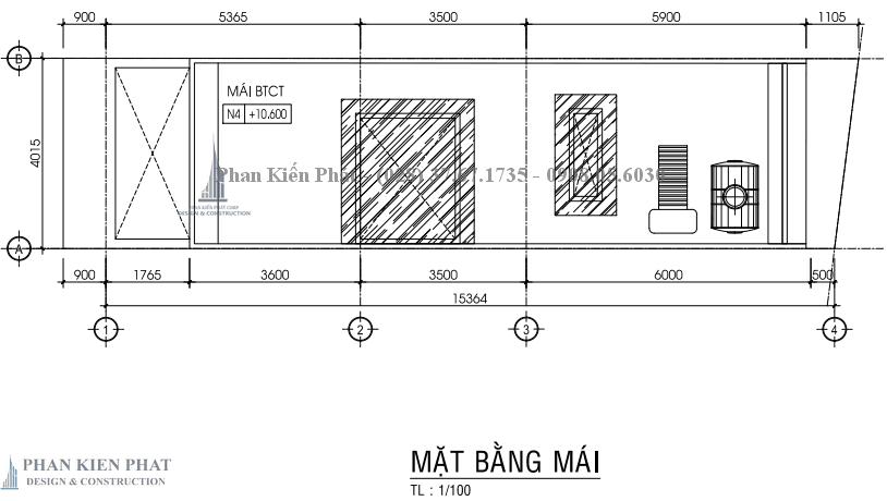 Ban Ve Chi Tiet Mat Bang Mai Nha Pho 3 Tang