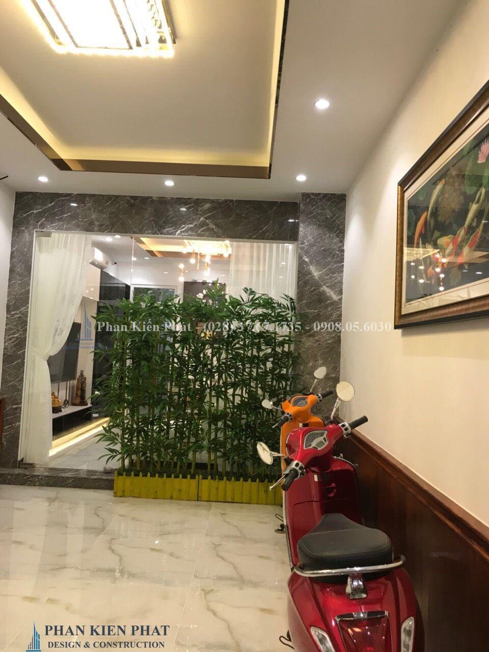 Hoan Thanh Cong Tac Hoan Thien Noi That Phong De Xe - công trình thi công hoàn thiện nhà phố 5 tầng