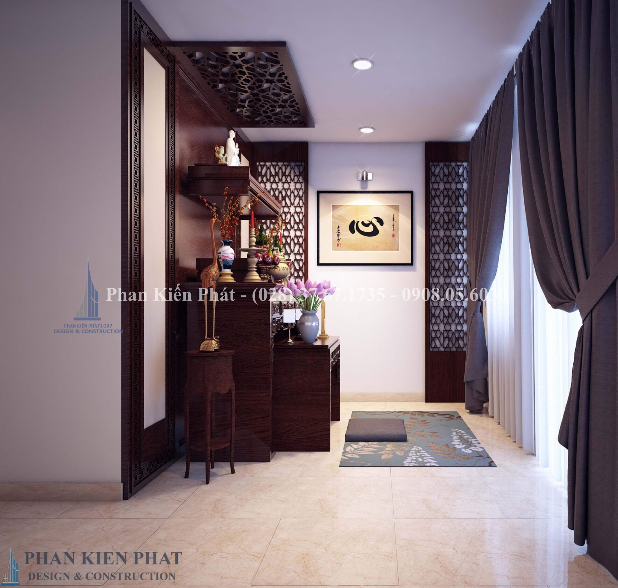 Thiet Ke Noi That Phong Tho View1 - mẫu thiết kế nhà phố 3 tầng