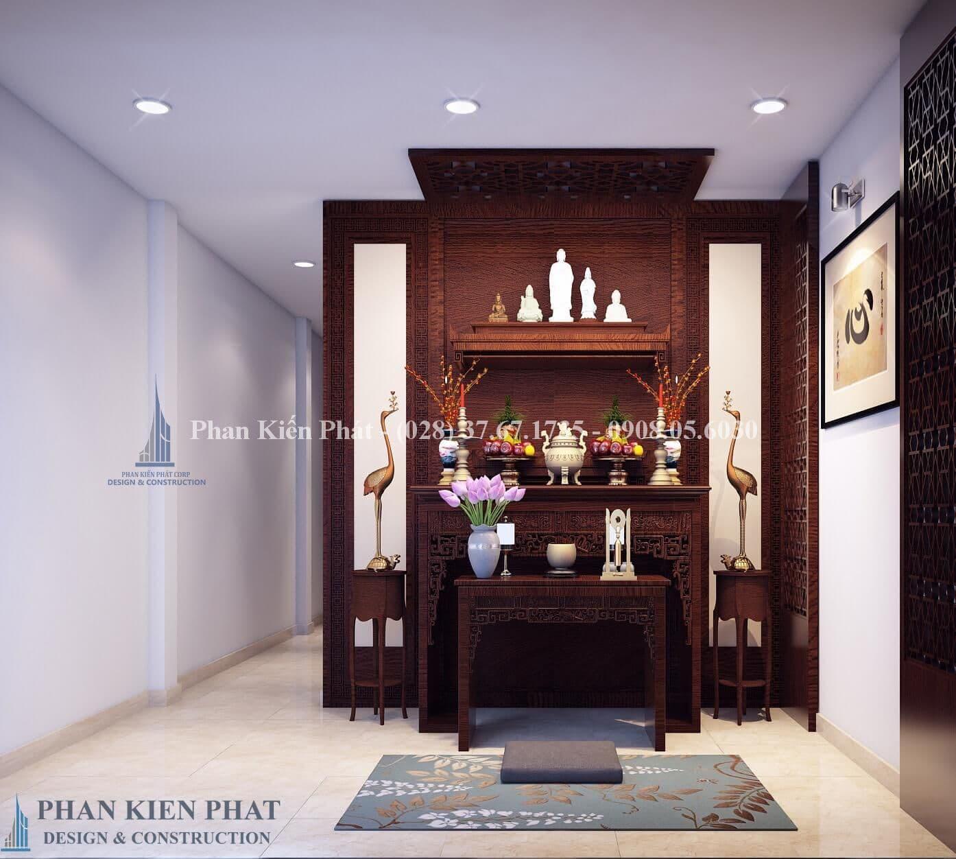 Thiet Ke Noi That Phong Tho View2- mẫu thiết kế nhà phố 3 tầng