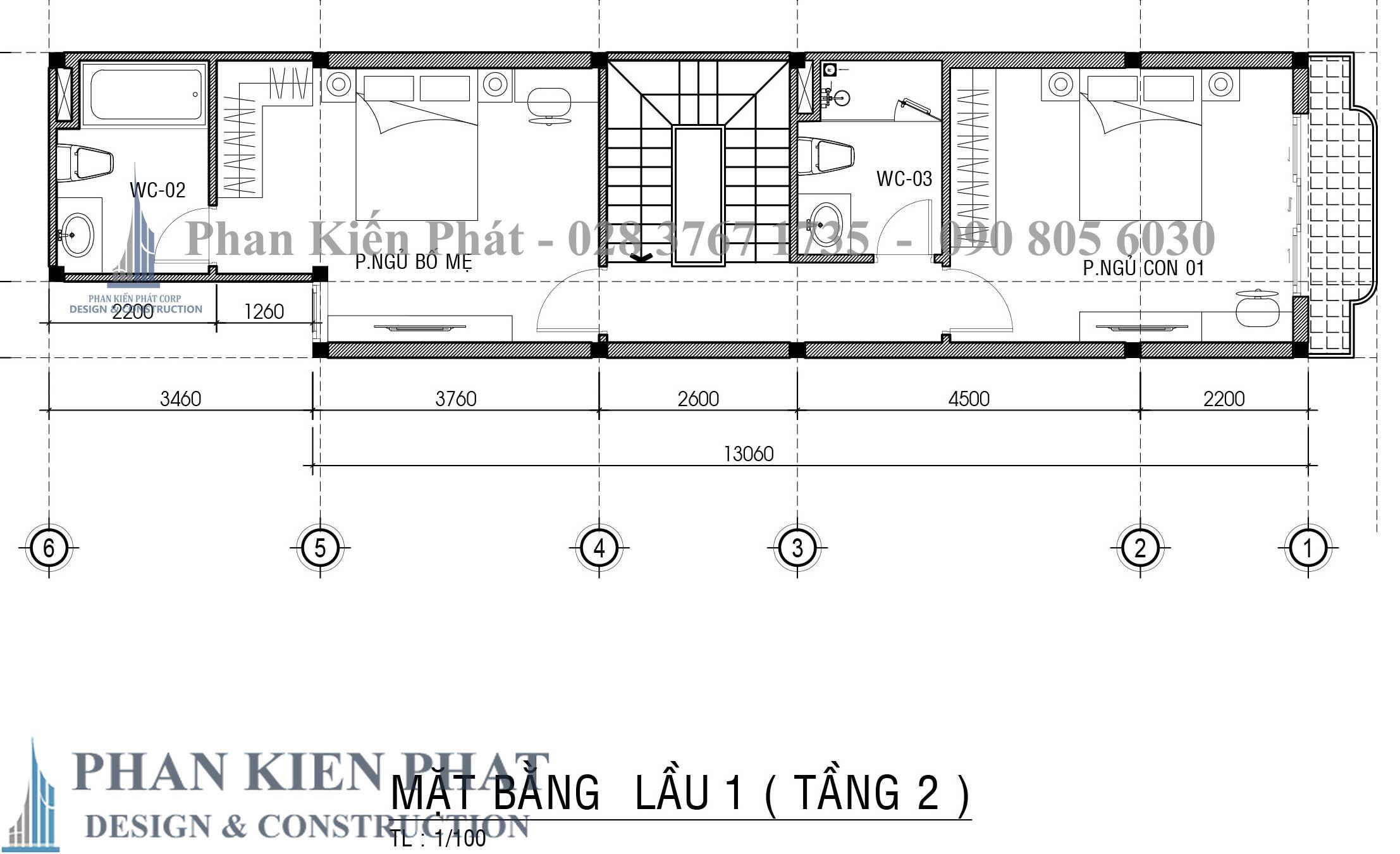 Bo Tri Mat Bang Tang 2 nhà phố 3 tầng tân cổ điển
